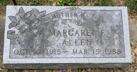 ALLEN, MARGARET F - Richland County, Ohio | MARGARET F ALLEN - Ohio Gravestone Photos