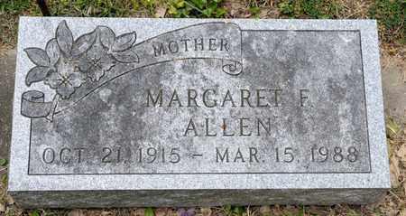 ALLEN, MARGARET F - Richland County, Ohio | MARGARET F ALLEN - Ohio Gravestone Photos