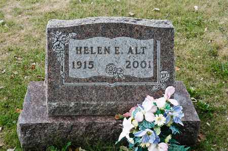 ALT, HELEN E - Richland County, Ohio | HELEN E ALT - Ohio Gravestone Photos