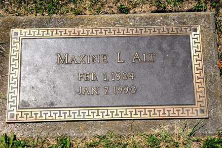 ALT, MAXINE L - Richland County, Ohio | MAXINE L ALT - Ohio Gravestone Photos