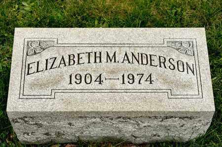 ANDERSON, ELIZABETH M - Richland County, Ohio | ELIZABETH M ANDERSON - Ohio Gravestone Photos