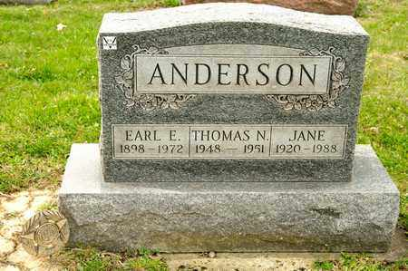 ANDERSON, THOMAS N - Richland County, Ohio | THOMAS N ANDERSON - Ohio Gravestone Photos