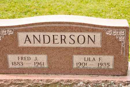 ANDERSON, FRED J - Richland County, Ohio | FRED J ANDERSON - Ohio Gravestone Photos