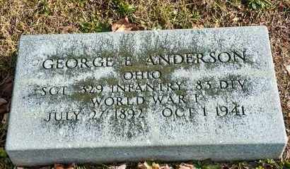 ANDERSON, GEORGE E - Richland County, Ohio | GEORGE E ANDERSON - Ohio Gravestone Photos