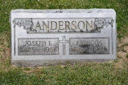 ANDERSON, JOSEPH L - Richland County, Ohio | JOSEPH L ANDERSON - Ohio Gravestone Photos