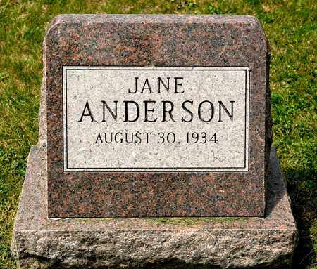 ANDERSON, JANE - Richland County, Ohio | JANE ANDERSON - Ohio Gravestone Photos