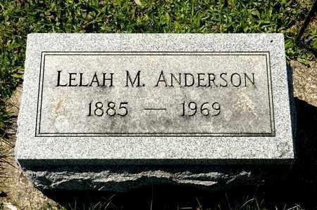 ANDERSON, LELAH M - Richland County, Ohio | LELAH M ANDERSON - Ohio Gravestone Photos