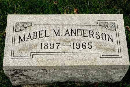 ANDERSON, MABEL M - Richland County, Ohio | MABEL M ANDERSON - Ohio Gravestone Photos