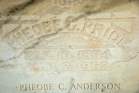 ANDERSON, PHEOBE C - Richland County, Ohio | PHEOBE C ANDERSON - Ohio Gravestone Photos