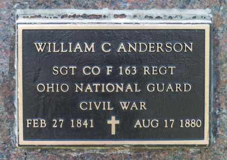ANDERSON, WILLIAM COLLINS - Richland County, Ohio | WILLIAM COLLINS ANDERSON - Ohio Gravestone Photos