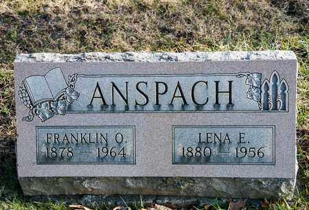 ANSPACH, LENA E - Richland County, Ohio | LENA E ANSPACH - Ohio Gravestone Photos