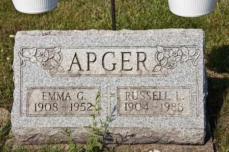 APGER, EMMA G - Richland County, Ohio | EMMA G APGER - Ohio Gravestone Photos