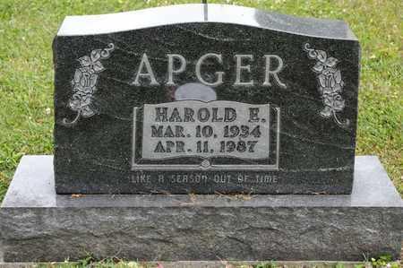APGER, HAROLD E - Richland County, Ohio | HAROLD E APGER - Ohio Gravestone Photos