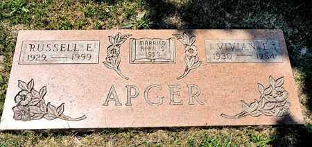 APGER, RUSSELL E - Richland County, Ohio | RUSSELL E APGER - Ohio Gravestone Photos