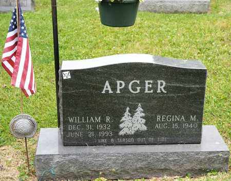 APGER, WILLIAM R - Richland County, Ohio | WILLIAM R APGER - Ohio Gravestone Photos