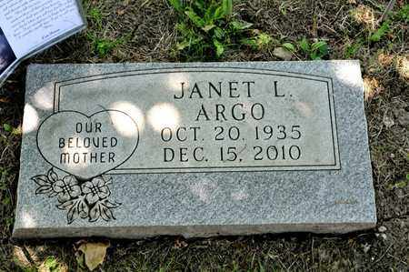 ARGO, JANET L - Richland County, Ohio | JANET L ARGO - Ohio Gravestone Photos