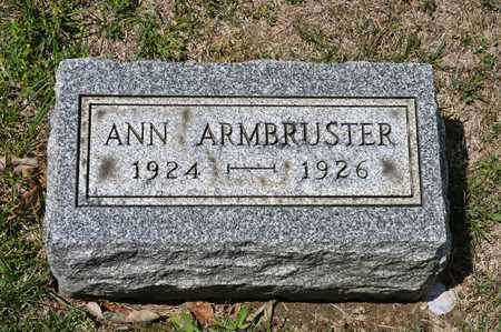 ARMBRUSTER, ANN - Richland County, Ohio | ANN ARMBRUSTER - Ohio Gravestone Photos