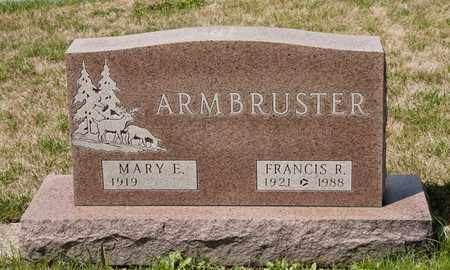 ARMBRUSTER, FRANCIS R - Richland County, Ohio | FRANCIS R ARMBRUSTER - Ohio Gravestone Photos