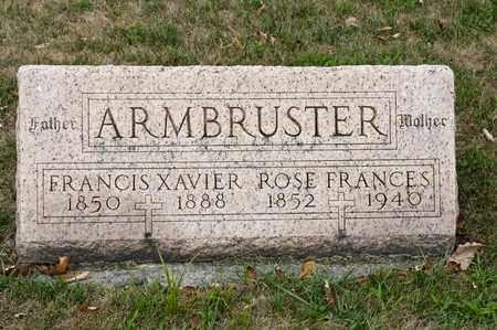 ARMBRUSTER, FRANCIS XAVIER - Richland County, Ohio   FRANCIS XAVIER ARMBRUSTER - Ohio Gravestone Photos