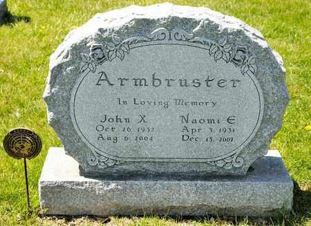 ARMBRUSTER, NAOMI E - Richland County, Ohio | NAOMI E ARMBRUSTER - Ohio Gravestone Photos