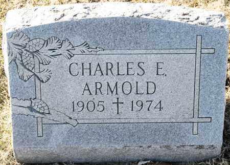 ARMOLD, CHARLES E - Richland County, Ohio | CHARLES E ARMOLD - Ohio Gravestone Photos