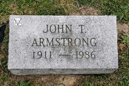 ARMSTRONG, JOHN T - Richland County, Ohio | JOHN T ARMSTRONG - Ohio Gravestone Photos