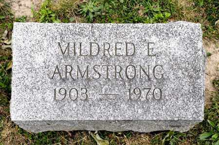 ARMSTRONG, MILDRED E - Richland County, Ohio | MILDRED E ARMSTRONG - Ohio Gravestone Photos