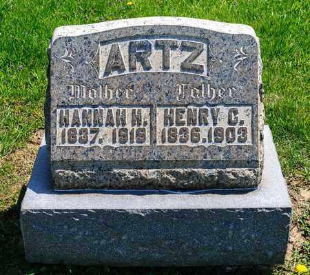 ARTZ, HANNAH H - Richland County, Ohio | HANNAH H ARTZ - Ohio Gravestone Photos