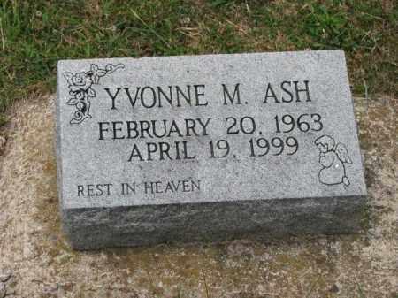 ASH, YVONNE M. - Richland County, Ohio | YVONNE M. ASH - Ohio Gravestone Photos