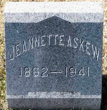 ASKEW, JEANNETTE - Richland County, Ohio | JEANNETTE ASKEW - Ohio Gravestone Photos