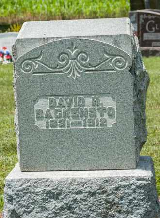 BACKENSTO, DAVID H - Richland County, Ohio | DAVID H BACKENSTO - Ohio Gravestone Photos