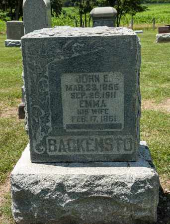 BACKENSTO, JOHN E - Richland County, Ohio | JOHN E BACKENSTO - Ohio Gravestone Photos