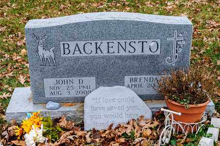 BACKENSTO, JOHN D - Richland County, Ohio | JOHN D BACKENSTO - Ohio Gravestone Photos