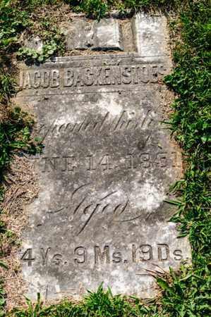 BACKENSTOES, JACOB - Richland County, Ohio | JACOB BACKENSTOES - Ohio Gravestone Photos
