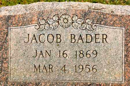 BADER, JACOB - Richland County, Ohio | JACOB BADER - Ohio Gravestone Photos