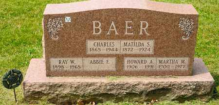 BAER, MARTHA M - Richland County, Ohio | MARTHA M BAER - Ohio Gravestone Photos