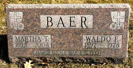 BAER, WALDO F - Richland County, Ohio | WALDO F BAER - Ohio Gravestone Photos