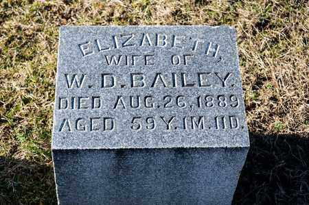 BAILEY, ELIZABETH - Richland County, Ohio | ELIZABETH BAILEY - Ohio Gravestone Photos