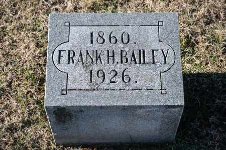 BAILEY, FRANK H - Richland County, Ohio | FRANK H BAILEY - Ohio Gravestone Photos
