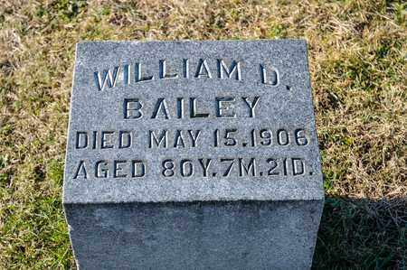 BAILEY, WILLIAM D - Richland County, Ohio | WILLIAM D BAILEY - Ohio Gravestone Photos