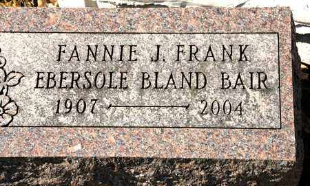 BAIR, FANNIE J - Richland County, Ohio | FANNIE J BAIR - Ohio Gravestone Photos