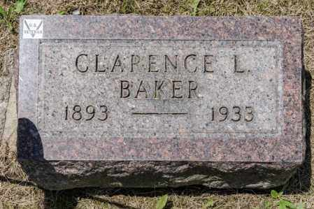 BAKER, CLARENCE L - Richland County, Ohio | CLARENCE L BAKER - Ohio Gravestone Photos