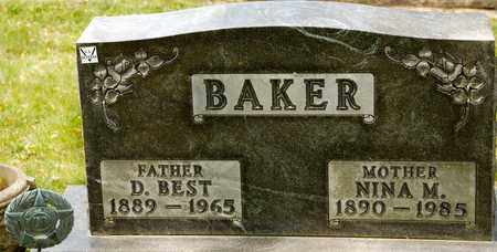 BAKER, D BEST - Richland County, Ohio | D BEST BAKER - Ohio Gravestone Photos