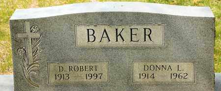 BAKER, D ROBERT - Richland County, Ohio | D ROBERT BAKER - Ohio Gravestone Photos