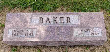 BAKER, EMANUEL G - Richland County, Ohio | EMANUEL G BAKER - Ohio Gravestone Photos