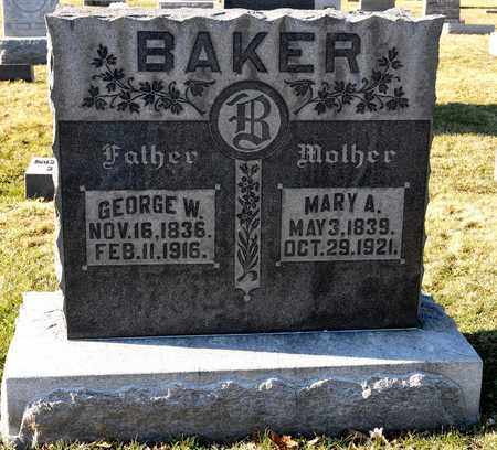 BAKER, MARY A - Richland County, Ohio | MARY A BAKER - Ohio Gravestone Photos