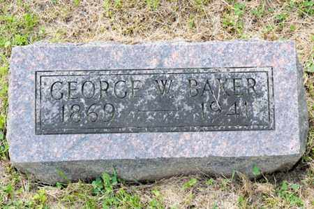 BAKER, GEORGE W - Richland County, Ohio | GEORGE W BAKER - Ohio Gravestone Photos