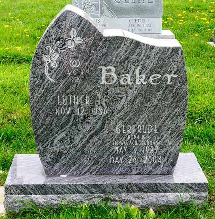 BAKER, GERTRUDE - Richland County, Ohio | GERTRUDE BAKER - Ohio Gravestone Photos
