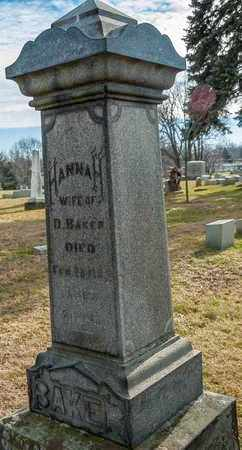 BAKER, HANNAH - Richland County, Ohio | HANNAH BAKER - Ohio Gravestone Photos