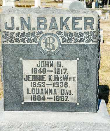 BAKER, JENNIE - Richland County, Ohio | JENNIE BAKER - Ohio Gravestone Photos